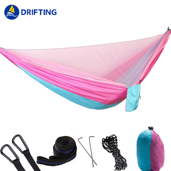 Quick opening of rubber band mosquito net hammock DFT-HJ01A