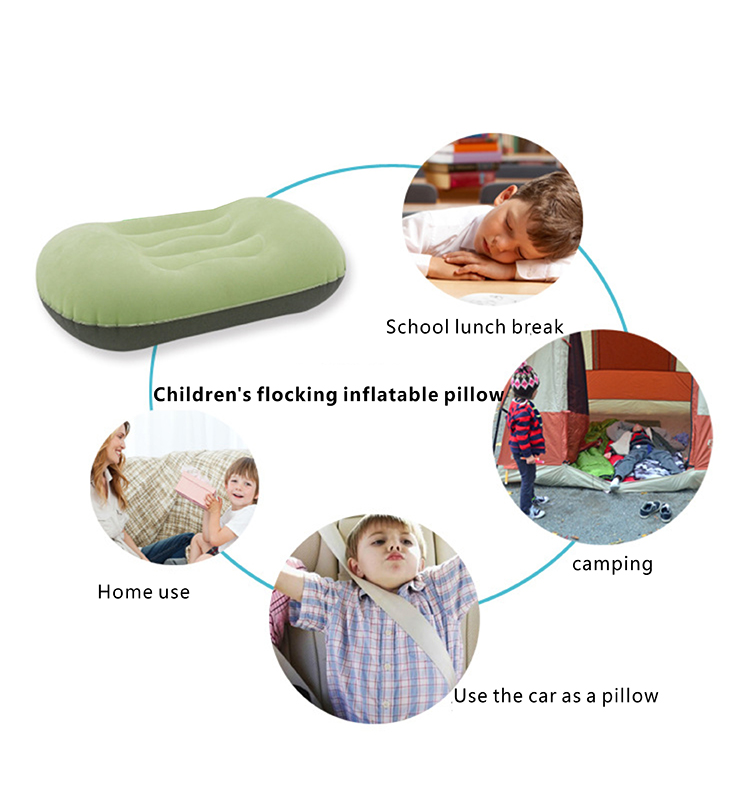 Children's Flocking Cloth Inflatable Pillow (Cushion) (10).JPG
