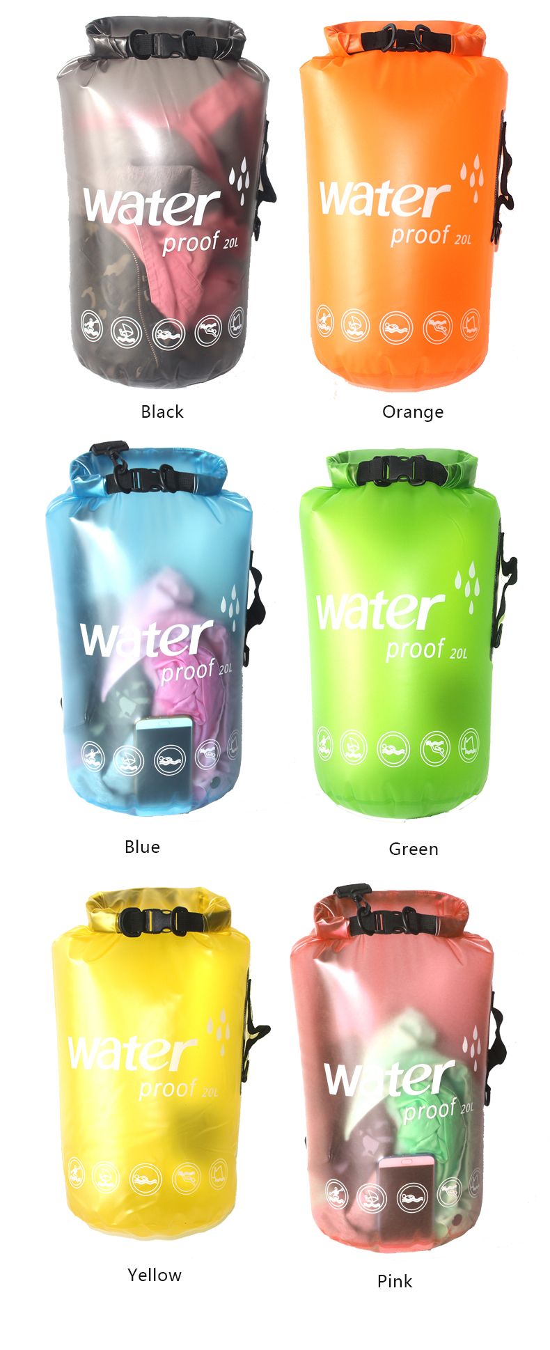 Transparent jelly waterproof bag DFT-601 (8).jpg