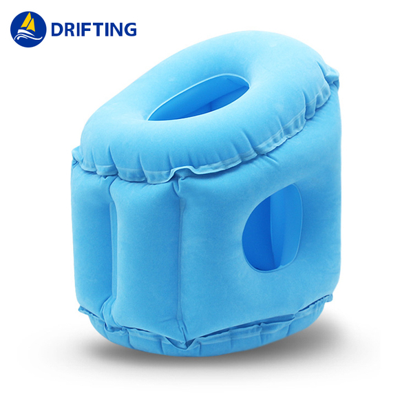 Inflatable travel flocking sleeping pillow DFT-309