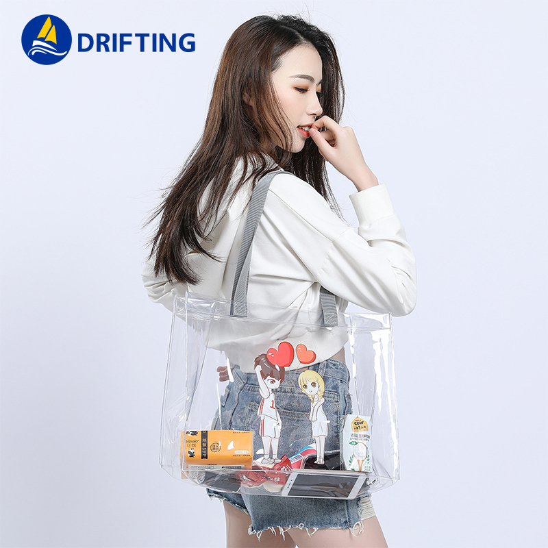 PVC Transparent Handbags Shoulder Bag Fashion handbag DFT-1805 (2).jpg