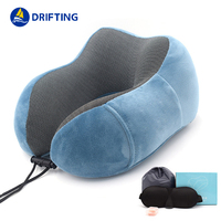 U shaped memory foam travel neck pillow DFT-215