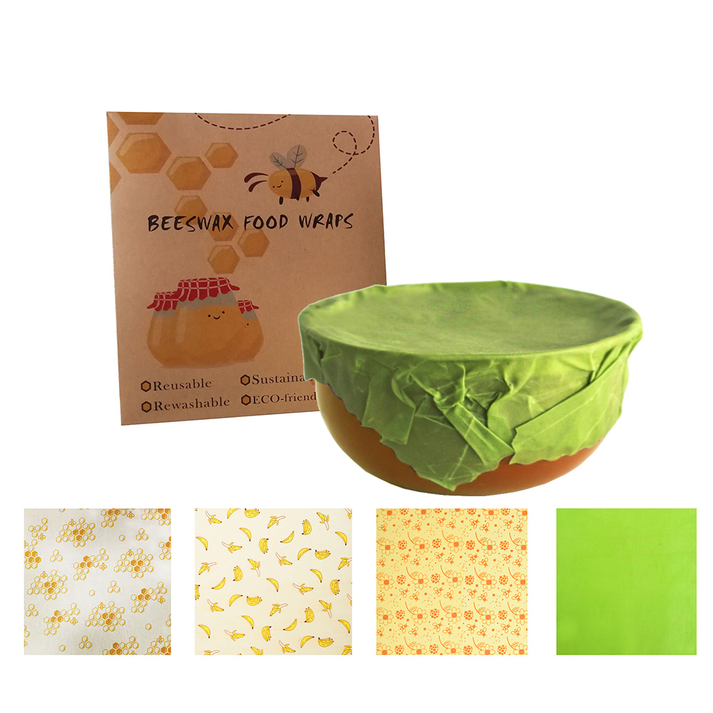 Reusable Bee Food Wrap Wax Paper – Better than wax wraps that peel off, smell, or are too sticky, Geobless beeswax wrapping sheets help protect your fresh produce, fruits, cheeses, snacks and bread so you can say goodby ( (22).jpg