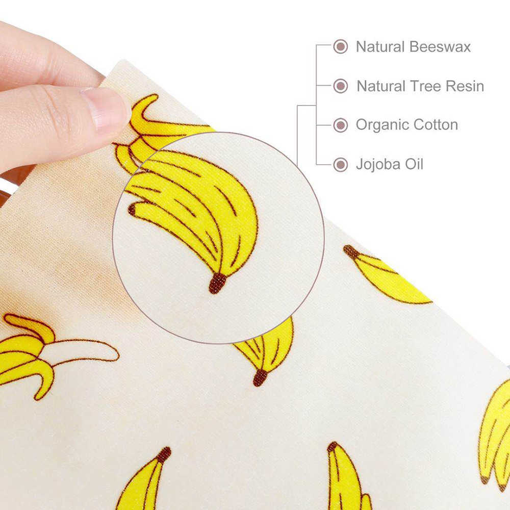 Reusable Bee Food Wrap Wax Paper – Better than wax wraps that peel off, smell, or are too sticky, Geobless beeswax wrapping sheets help protect your fresh produce, fruits, cheeses, snacks and bread so you can say goodby ( (26).jpg