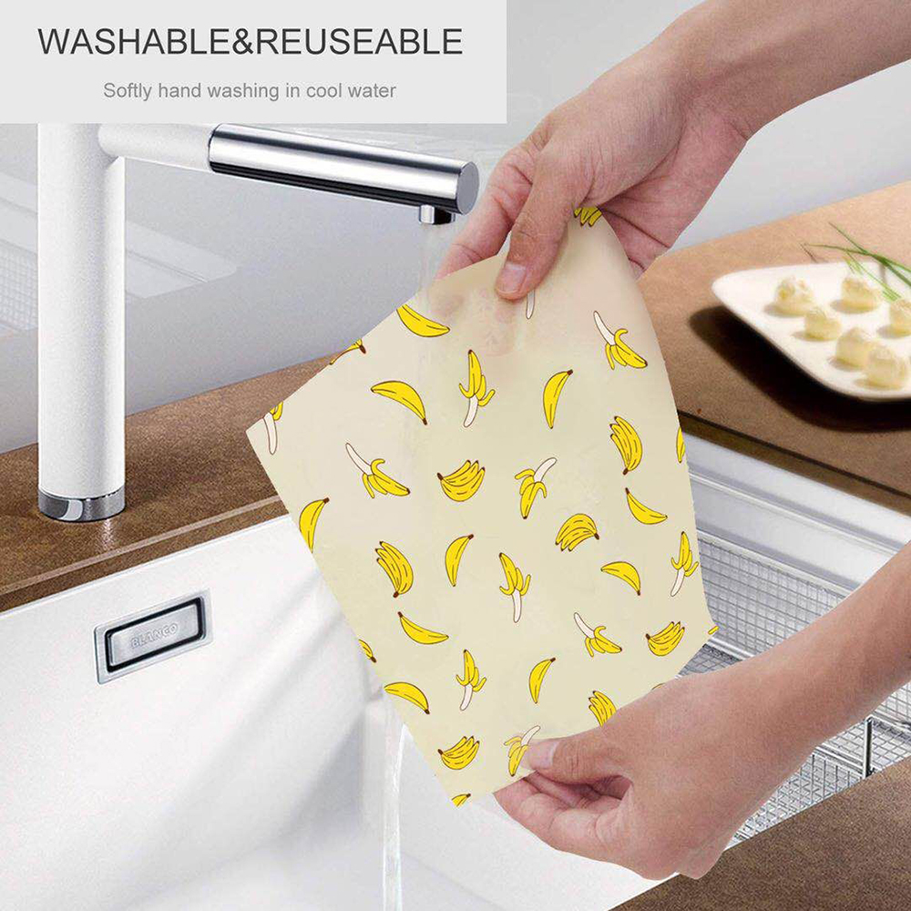 Reusable Bee Food Wrap Wax Paper – Better than wax wraps that peel off, smell, or are too sticky, Geobless beeswax wrapping sheets help protect your fresh produce, fruits, cheeses, snacks and bread so you can say goodby ( (25).jpg