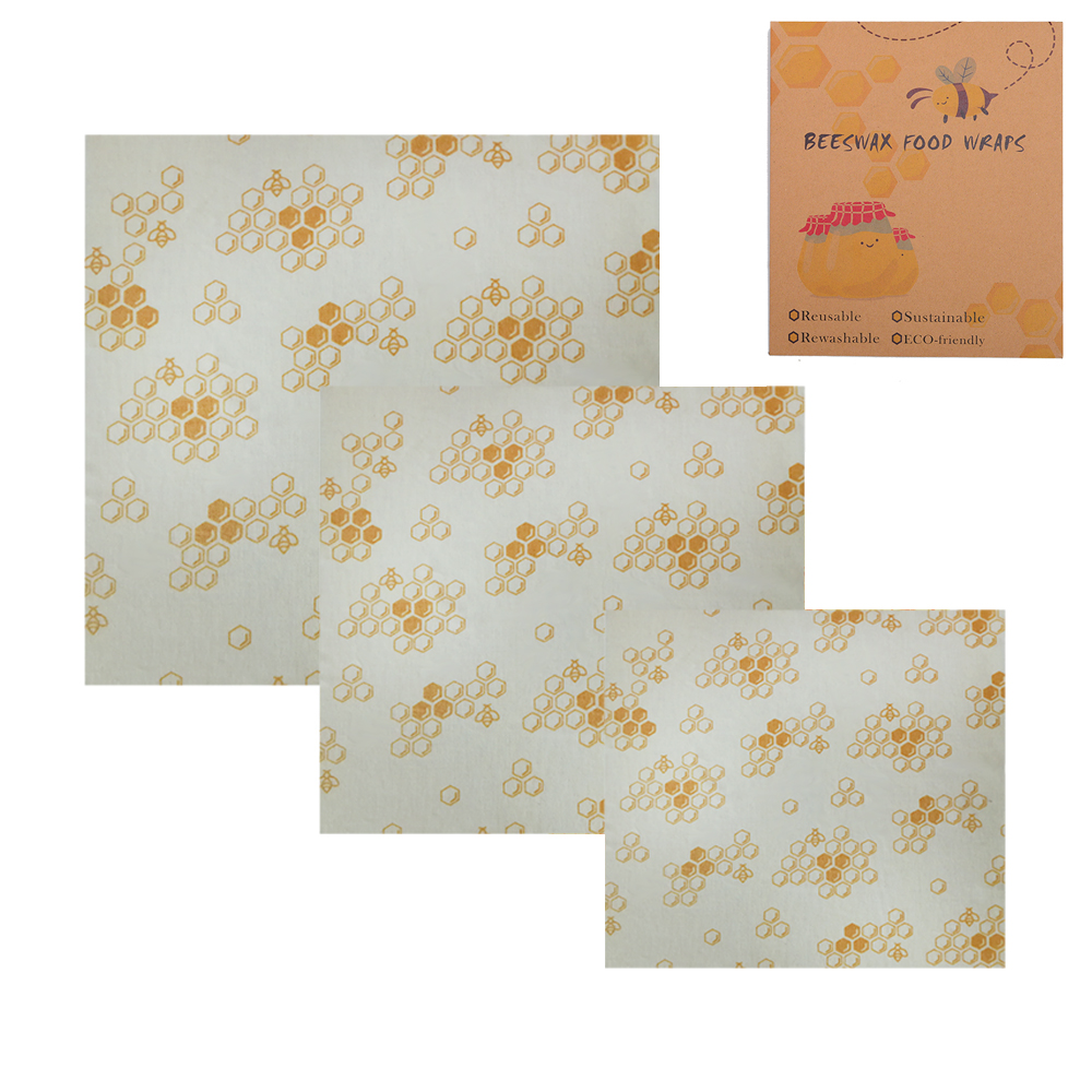 Reusable Bee Food Wrap Wax Paper – Better than wax wraps that peel off, smell, or are too sticky, Geobless beeswax wrapping sheets help protect your fresh produce, fruits, cheeses, snacks and bread so you can say goodby ( (28).jpg