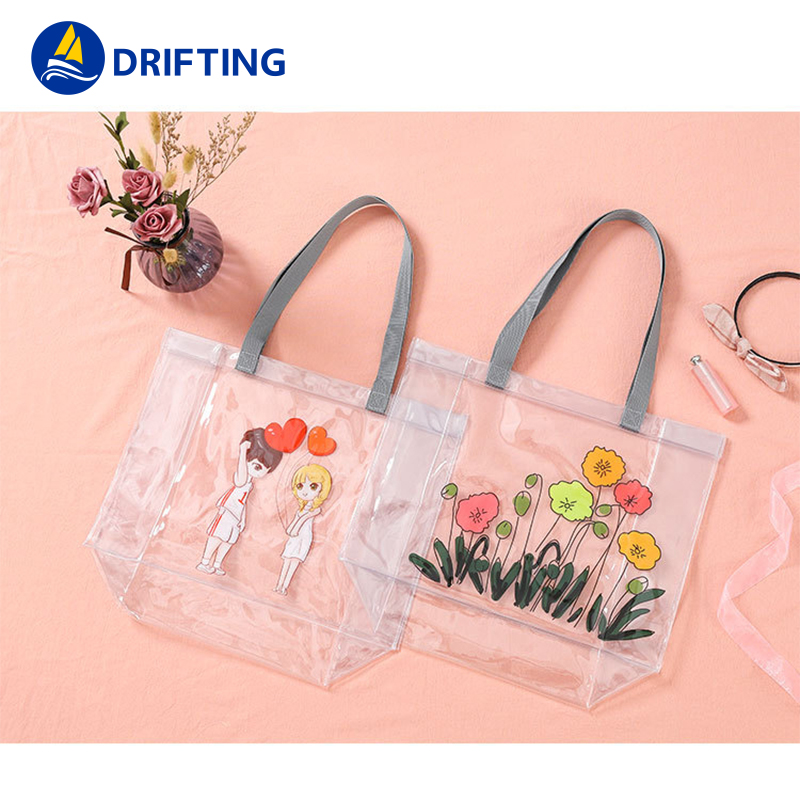 PVC Transparent Handbags Shoulder Bag Fashion handbag DFT-1805 (6).jpg